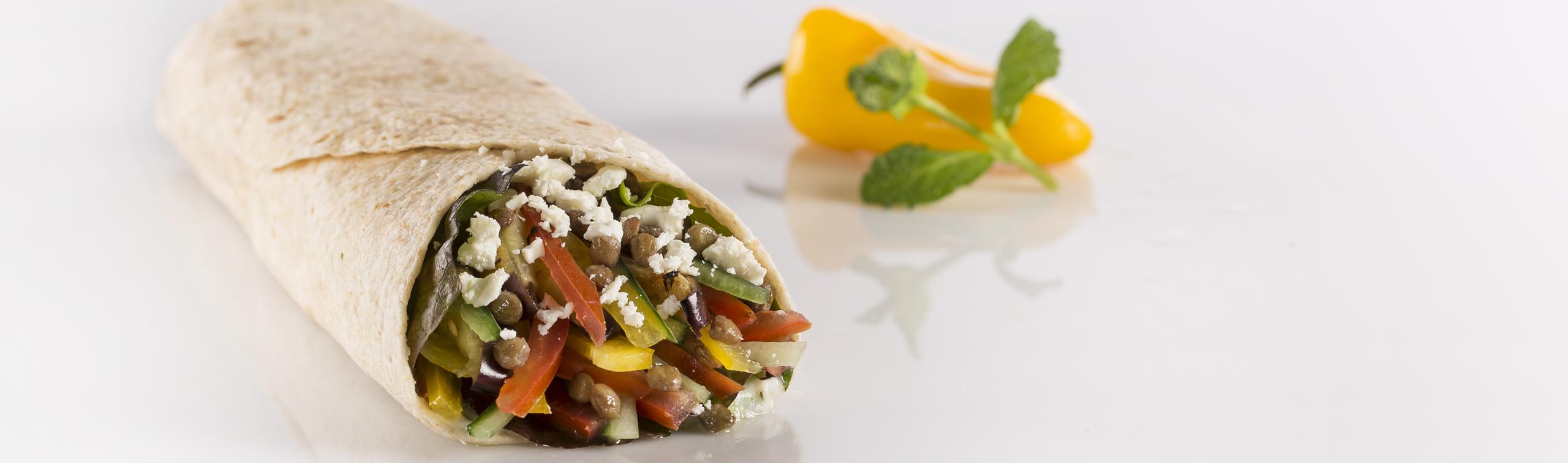 Mediterranean Veggie Wrap | In My Kitchen Recipes